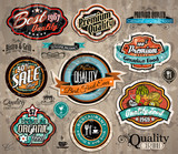 Set of Premium Quality Vintage Labels