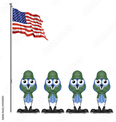 USA soldiers on parade ground