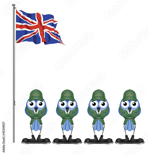 UK soldiers on parade ground