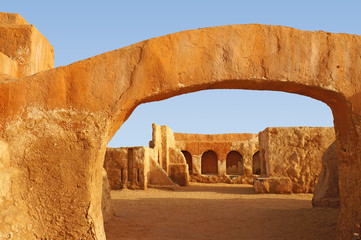 Star wars movie set in the Sahara desert of Tunisia,Africa