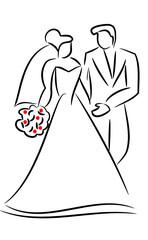 Mariés schématisés