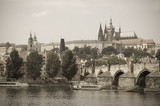 Charles bridge and Prague Castle, Prague, Czech Republic