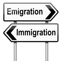 Immigration or emigration.