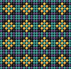 Beadwork seamless ornament