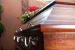 Beerdigung mit Sarg