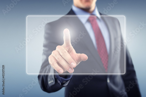 Man with Touchscreen