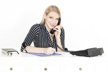 Geschäftsfrau am arbeiten