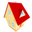 Vector abstract illustration of house
