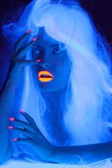Fairy tale portrait in uv light