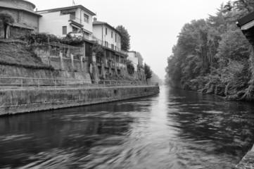 Naviglio Pavese Boffalora B&W image 4