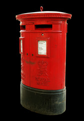 Red mail-box.