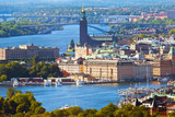 Aerial panorama of Stockholm, Sweden
