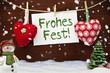 Herzen mit Weihnachtsdekoration und Schnee