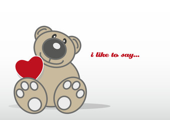 Teddybär Grußkarte