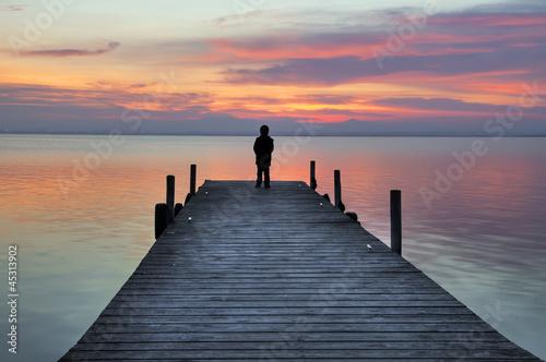 Deurstickers Pier Pensando en soledad