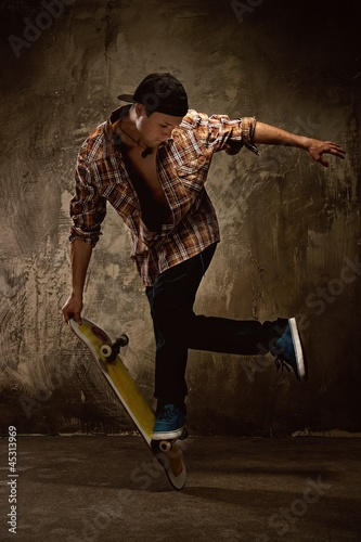 Skater doing a trick Poster