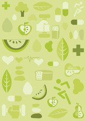 Health background, illustration