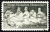 Postage stamp USA 1970 Stone Mountain Memorial