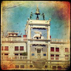 Venice, Clock tower in St Mark`s square