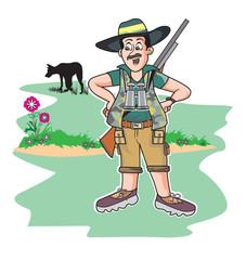 Safari hunter, illustration