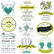 Set of Wedding Invitations - in vector