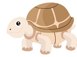 Cute turtle, illustration