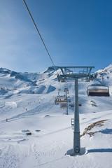 Ski resort of Kaprun, Kitzsteinhorn glacier. Austria