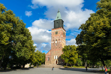 Medieval Turku cathedral in Finland