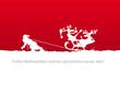 Weihnachtskarte Santa zieht Schlitten