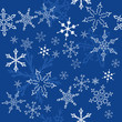 Snowflakes - Christmas winter background