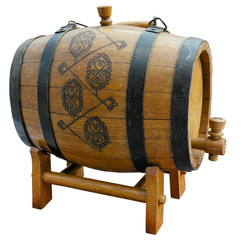 Old barrel. Clipping path included.