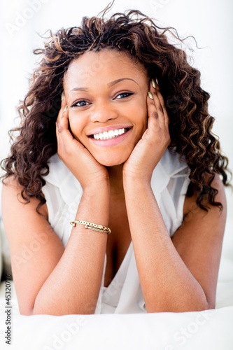 Happy woman smiling