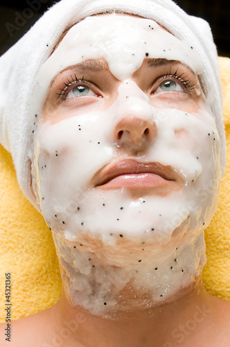 Relaxing during a skin care treatment