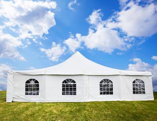 White banquet tent.