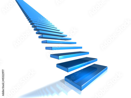 Long flight of stairs that leads to glory