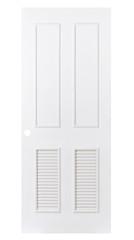 Plain white door on white