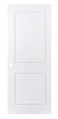 Classic simply plain white door