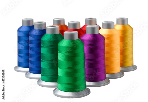 Colorful cone thread textile from nature isolates