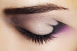 Purple Eye Makeup. Beautiful eye makeup close up