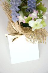 paper note with flowers