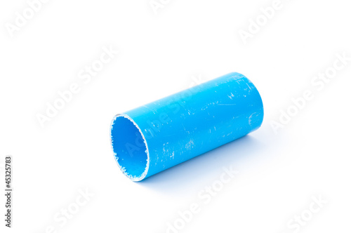 Modern water drain pipes  Isolated on white