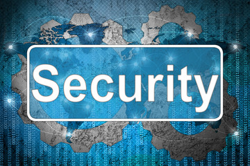 Word Security on network background