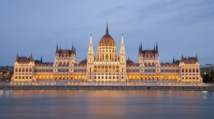Budapest - parliament in dusk
