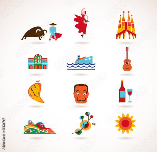 Spain Love - set of vector icons