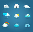 collection of cloud vector icons