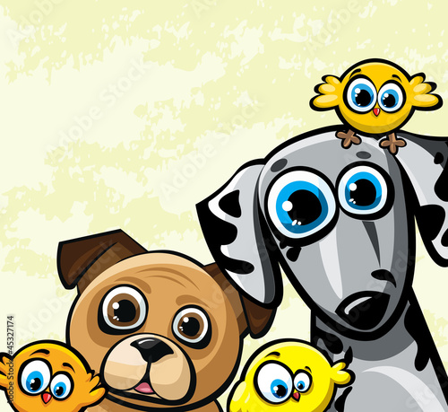 Cartoon vector funny family
