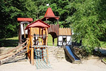 Kinderspielplatz Thema Burg