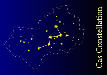 Illustration of the Cassiopeia Constellation