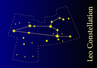 Illustration of the Lion Constellation
