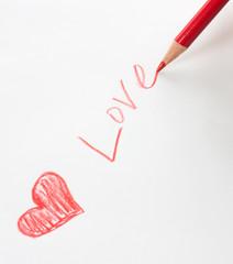 "write ""LOVE"""